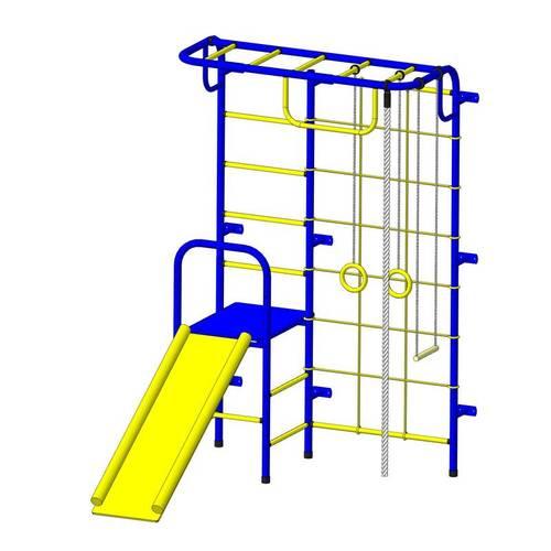 ДСК Пионер - С107 сине/жёлтый, Цвет стоек: Синий, Тип перекладин: Металлические, фото