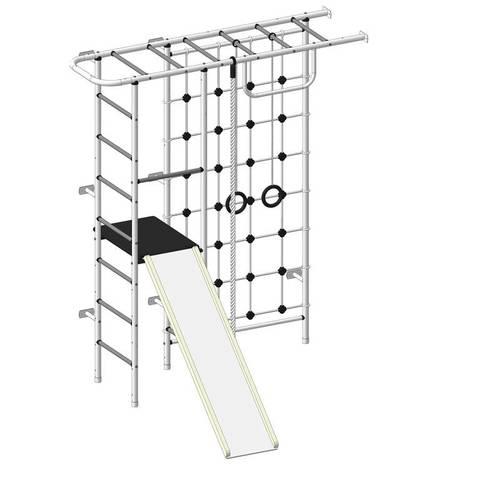 ДСК Пионер 11СМ бело/серый, Цвет стоек: Белый, Тип перекладин: Металл + ПВХ, фото