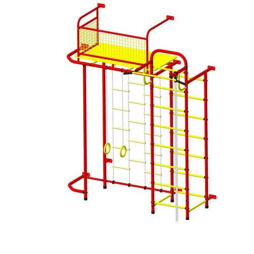 ДСК Пионер - С6Л красно/жёлтый, Цвет стоек: Красный, Тип перекладин: Металлические, фото