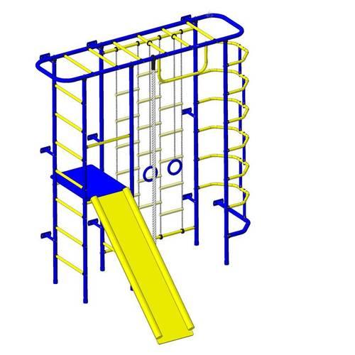 ДСК Пионер - С7Л сине/жёлтый, Цвет стоек: Синий, Тип перекладин: Металлические, фото