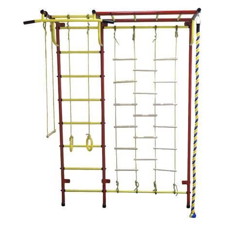 ДСК Пионер - С4ЛМ красно/жёлтый, Цвет стоек: Красный, Тип перекладин: Металл + ПВХ, фото