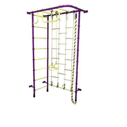 ДСК Пионер 8ЛМ пурпурно/жёлтый, Цвет стоек: Пурпурный, Тип перекладин: Металл + ПВХ, фото