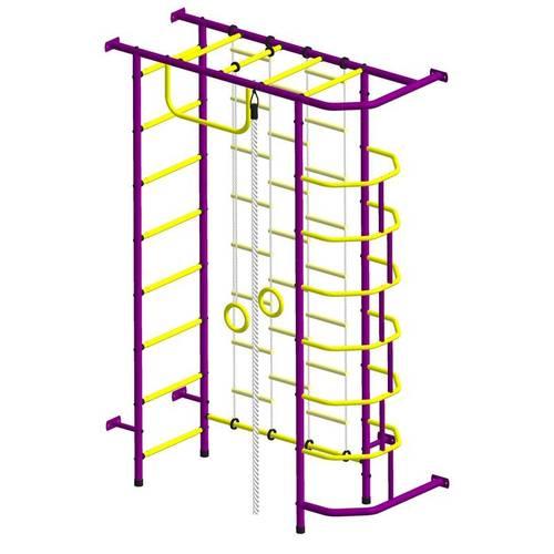 ДСК Пионер 9ЛМ пурпурно/жёлтый, Цвет стоек: Пурпурный, Тип перекладин: Металл + ПВХ, фото