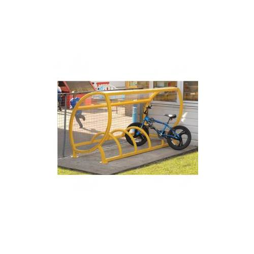 Крытая велопарковка для детских велосипедов, фото