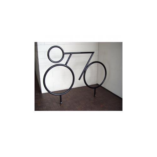 Велопарковка декоративная Велосипедист, фото