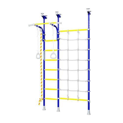 ДСКМ Romana R3 (01.30.7.06.410.04.00-28) синяя слива, Цвет стоек: Синий, Цвет перекладин: Желтый, фото