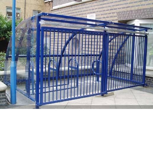 Запираемая крытая велопарковка КПЗ, фото