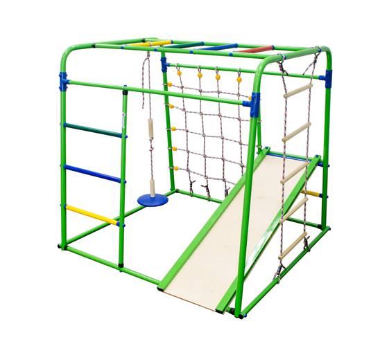ДСК Формула здоровья Start baby 1 Плюс салатовый/радуга, Цвет стоек: Салатовый, Цвет перекладин: Радуга, фото