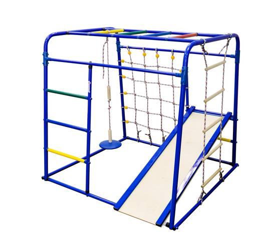ДСК Формула здоровья Start baby 1 Плюс синий/радуга, Цвет стоек: Синий, Цвет перекладин: Радуга, фото