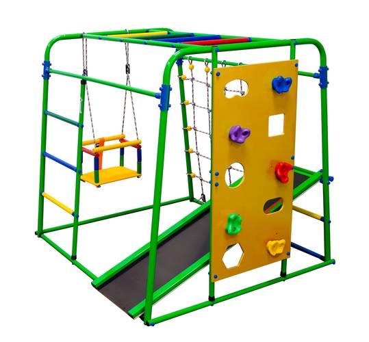 ДСК Формула здоровья Start baby 2 плюс салатовый/радуга, Цвет стоек: Салатовый, Цвет у перекладин: Разноцветные, фото