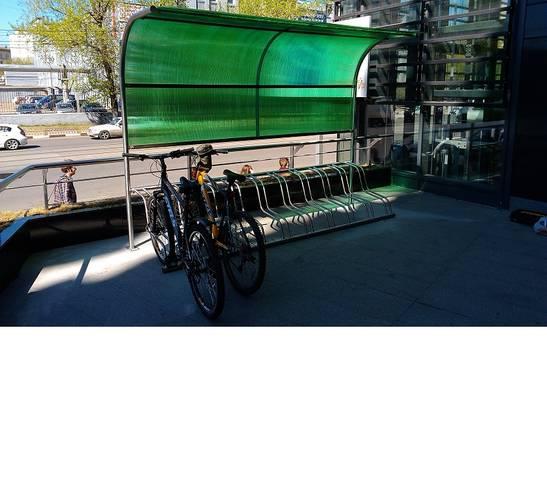 Велопарковка с навесом Прибой, фото