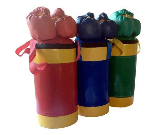 Детский боксерский набор №2 из груши 5 кг и перчаток сине/желтый, фото 3