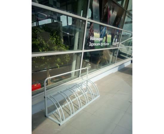 Велопарковка Оптима-1 на 6 мест рекламная, фото 9