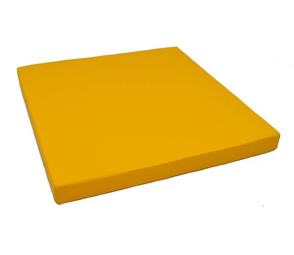 Мат гимнастический № 2 (100 х 100 х 10) см жёлтый, Варианты цветов: Жёлтый, фото