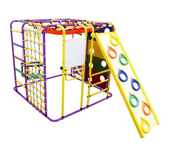 ДСК Формула здоровья Кубик У Плюс фиолетовый/радуга, Цвет стоек: Фиолетовый, Цвет у перекладин: Разноцветные, фото