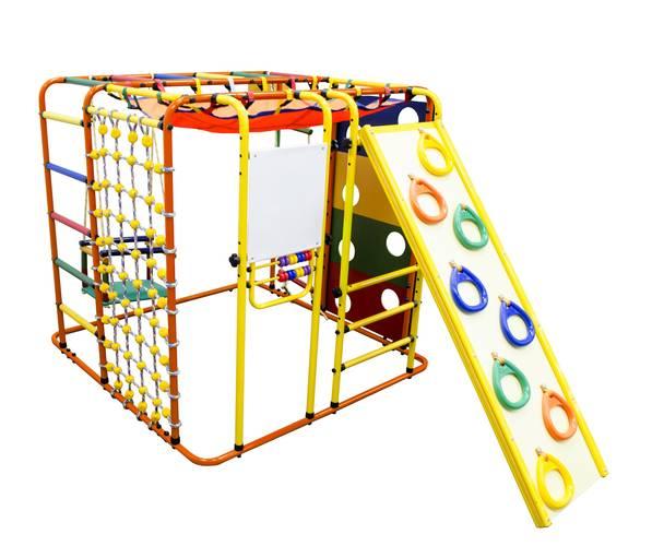 ДСК Формула здоровья Кубик У Плюс оранжевый/радуга, Цвет стоек: Оранжевый, Цвет у перекладин: Разноцветные, фото