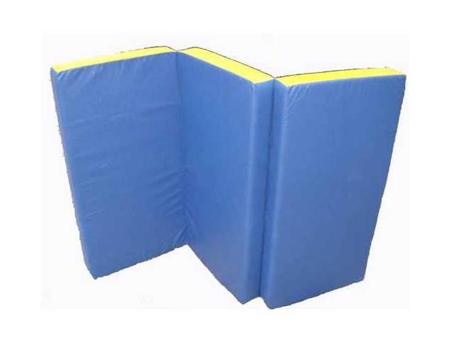 Мат гимнастический складной (100 х 150 х 10) см сине/жёлтый, фото 2