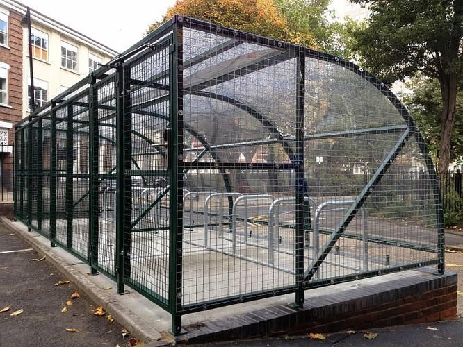 Закрывающаяся велопарковка Парус-2, фото