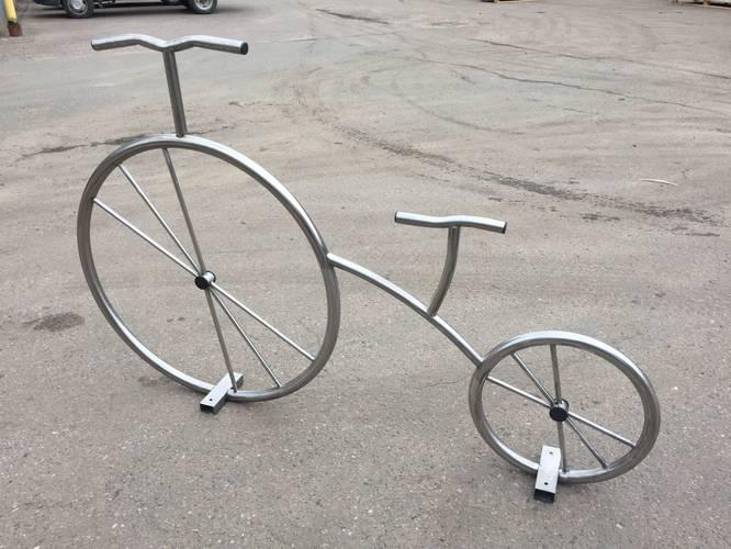Велопарковка Велосипед декоративный, Материал: Сталь конструкционная, фото