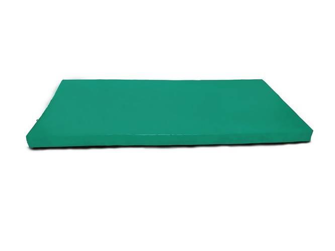 Мат гимнастический № 6 (100 х 200 х 10) см зелёный, Варианты цветов: Зеленый, фото