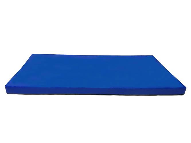 Мат гимнастический № 9 (100 х 150 х 10) см сине/жёлтый, Варианты цветов: Сине/жёлтый, фото