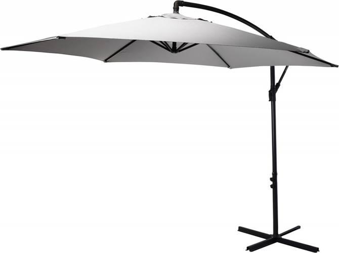 Зонт садовый складной Koopman ф300 купол Светло-серый, Цвет: Светло-серый, фото