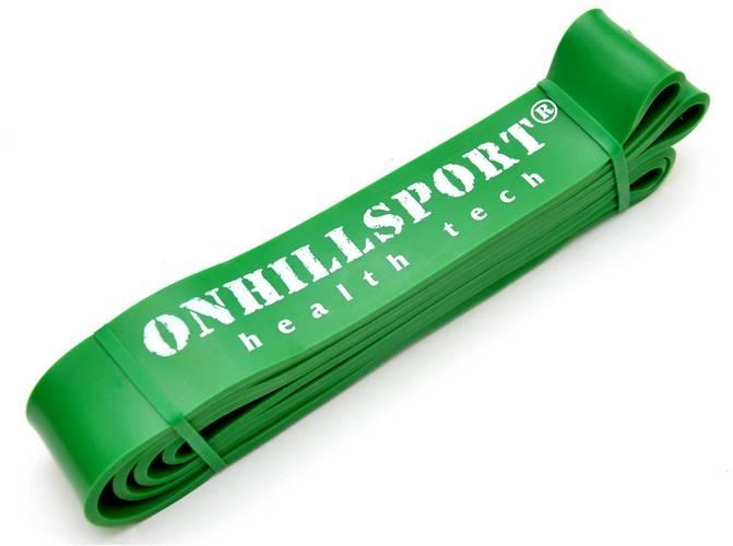Латексная петля для фитнеса 2080 (45 мм) зеленая 19-56 кг, фото