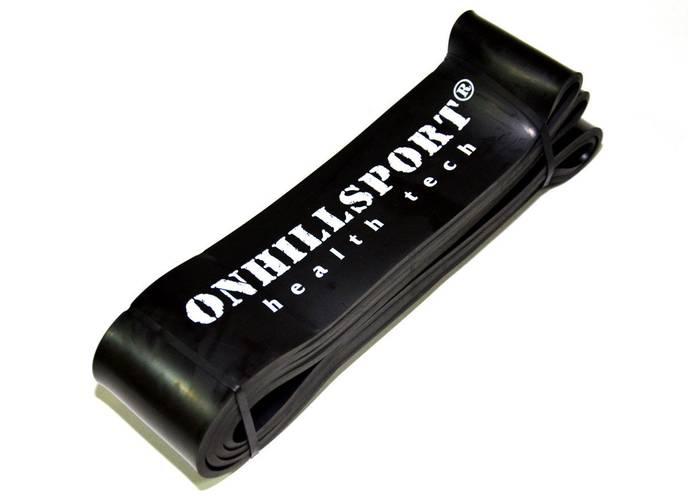 Латексная петля для фитнеса 2080 (64 мм) черная 25-70 кг, фото 4