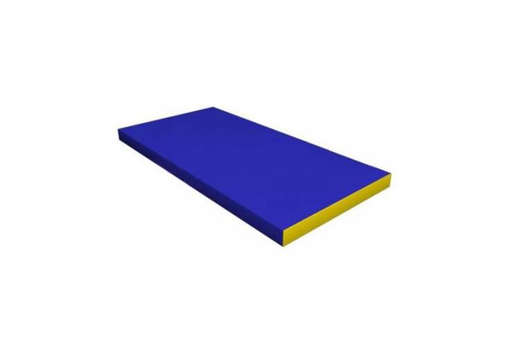 Мат гимнастический (100 х 50 х 10) см сине/жёлтый, фото 1