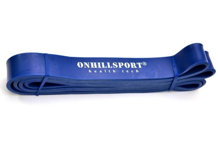 Латексная петля для фитнеса 2080 (29 мм) синяя 14-38 кг, фото 3