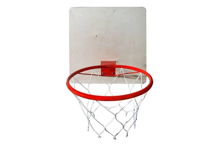 Кольцо баскетбольное с сеткой КМС d=380 мм, фото