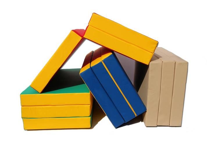Мат гимнастический складной (100 х 150 х 10) см сине/жёлтый, фото 3