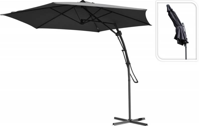 Зонт садовый складной Koopman ф380 купол Темно-серый, фото